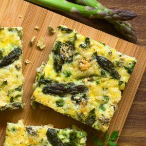 Frittata met groene asperges